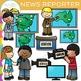TV News Reporter Clip Art