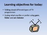 TV Programmes Introduction