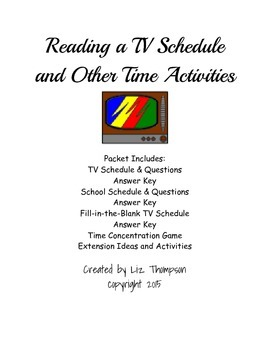 TV Schedule Time Problems