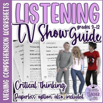 TV Show Guide for ANY episode MEDIA ANALYSIS/Listening Skills #ellthanksgiving