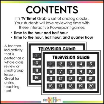 TV Time - Telling Time {BUNDLE}