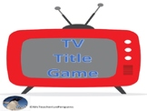 TV Title Game