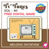 FREE! TV Tunes: Sol-Mi Melodic Dictation - BOOM Cards - On
