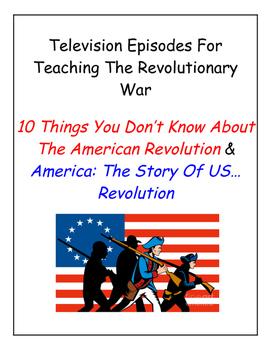 Revolutionary War TV Worksheets