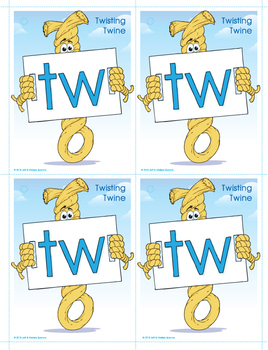 TW (Twisting Twine) Blend Buddy Card and Poster with Alphabet Cards
