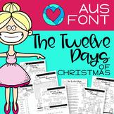 TWELVE DAYS OF CHRISTMAS - AUS FONT -