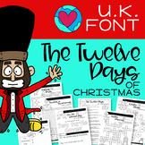 TWELVE DAYS OF CHRISTMAS - U.K. FONT -