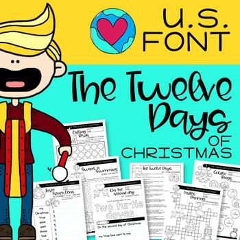 TWELVE DAYS OF CHRISTMAS - U.S. FONT -
