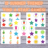 """TWELVE Summer Themed """"Find a Star"""" Games WITH covers!"""