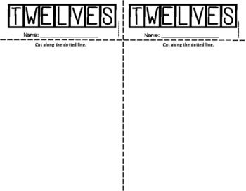 TWELVES Multiplication Fact Fluency Flip Book: Grades 3-5