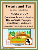 TWENTY and TEN Novel Study