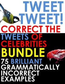 TWITTER ISSUES BUNDLE - Correct the Grammar of Celebrities