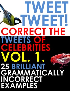 TWITTER ISSUES VOL.1. Correct the Grammar of Celebrities! Bell Ringer