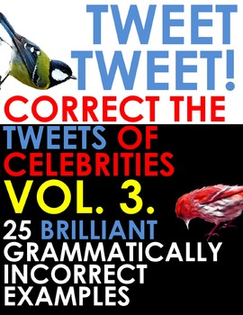 TWITTER ISSUES VOL.3. Correct the Spelling & Grammar of Celebrities! Bell Ringer