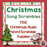 Christmas Music Activities: Christmas Music Worksheets:  Song Scrambles