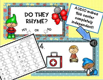 Two INTERACTIVE Digital Task Card Centers: RHYMING WORDS