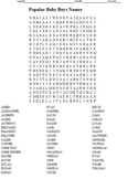 TWO FREE WORD SEARCHES - popular names