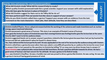 TWO GENIUSES - BIOGRAPHY COMPREHENSION - TASKS AND EXERCISES