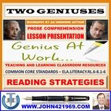 TWO GENIUSES: PROSE COMPREHENSION LESSON PRESENTATION