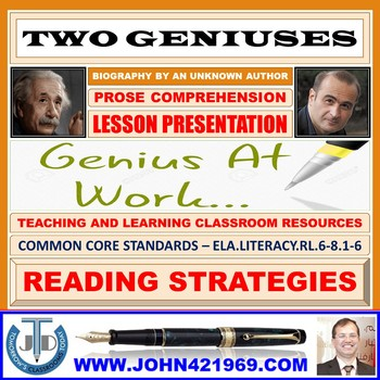 TWO GENIUSES: PROSE COMPREHENSION LESSON PRESENTATION