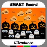 Halloween SMARTBoard Attendance