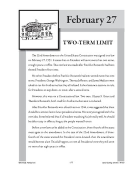 TWO-TERM LIMIT (FEBRUARY 27)
