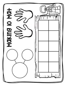 MAKING 10 TEN PARTNERS WORKSHEETS, ACTIVITIES, LESSON PLANS, CENTERS, AND MORE