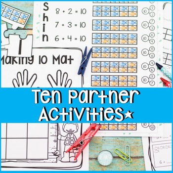 Making 10 Ten Partners Worksheets Activities Lesson Plans Centers