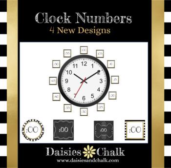 Clock Numbers - 4 New Designs