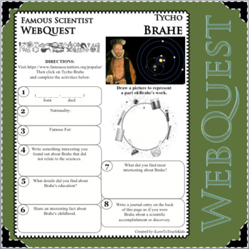 TYCHO BRAHE Science WebQuest Scientist Research Project Biography Notes