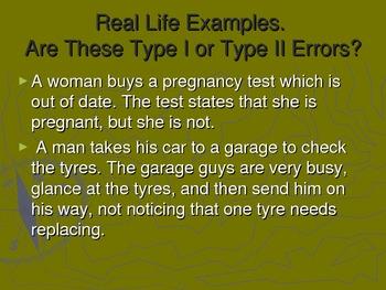 TYPE 1 & TYPE 2 ERRORS