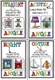 TYPES OF ANGLES FLASH CARDS