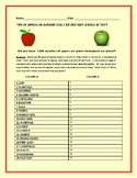 TYPES OF APPLES: A CROSS CURRICULAR ACTIVITY