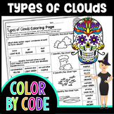 TYPES OF CLOUDS SCIENCE COLOR BY NUMBER, QUIZ