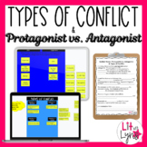 TYPES OF CONFLICT & PROTAGONIST VS ANTAGONIST- DIGITAL AND PRINTABLE