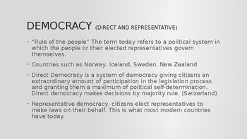 Civics - Types of Governments