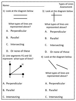 TYPES OF LINES ASSESSMENT gradecam