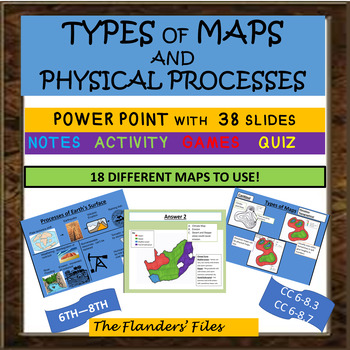 TYPES OF MAPS AND PHYSICAL PROCESSES POWER POINT - A