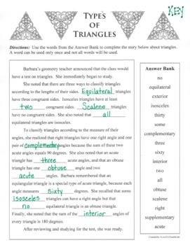 TYPES OF TRIANGLES Classifications