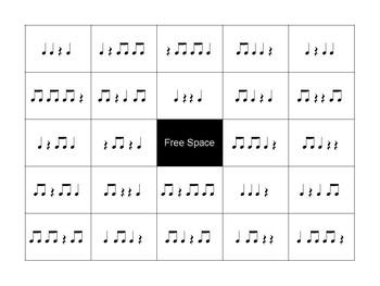 Ta Rest Rhythm Bingo