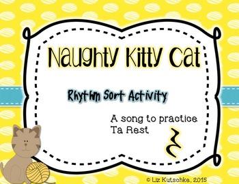 Ta Rest Rhythm Sort Activity: Naughty Kitty Cat