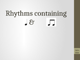 Ta & Ti-Ti Rhythm Pattern Assessment w/ Rhythm Rubric