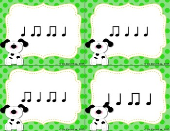 Ta and Ti-Ti Rhythm Sort Activity: Doggie, Doggie