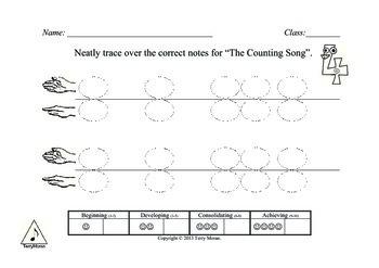 Ta, Ti-ti Mi So 1 to 3 lines Book 1 Worksheets