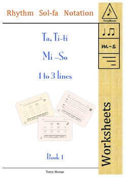 Ta, Ti-ti Mi So 1 to 3 lines Book 1 Worksheets