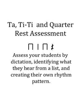 Ta, Ti-ti and Rest Assessment