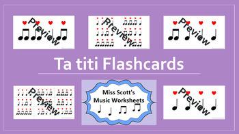 Ta Titi Rhythm Flashcards {with Interactive file}