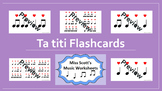 Ta Titi Rhythm Flashcards {with Interactive file}