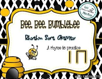 Ta and Ti-Ti Rhythm Sort Activity: Bee, Bee, Bumblebee
