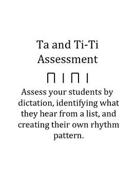 Ta and Ti-ti Assessment